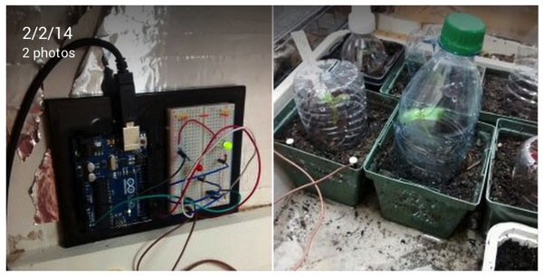 Chris frost Google My first successful arduino project It s a soil moisture