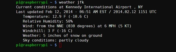 Weather jfk