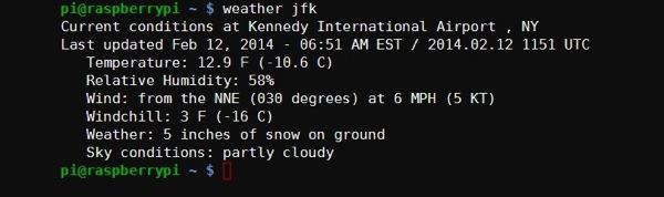 Weather jfk