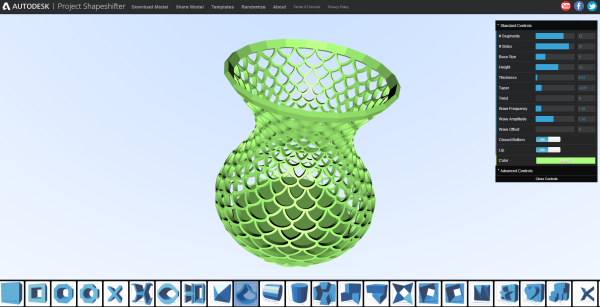 3d Design Software Autodesk Labs Project Shapeshifter Generative Design Models Produced Via 3d Patterning Engine