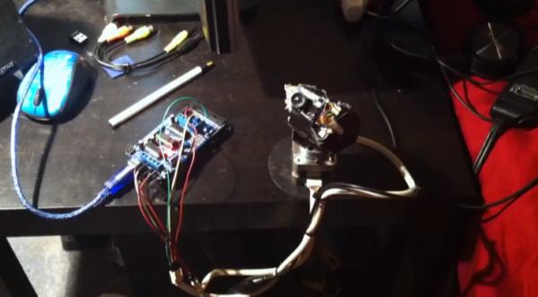Richard Freeman Google DIY 360 degree pan tilt camera system Using adafruit s