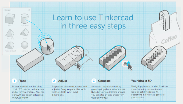 Tinkercad Mind to design in minutes
