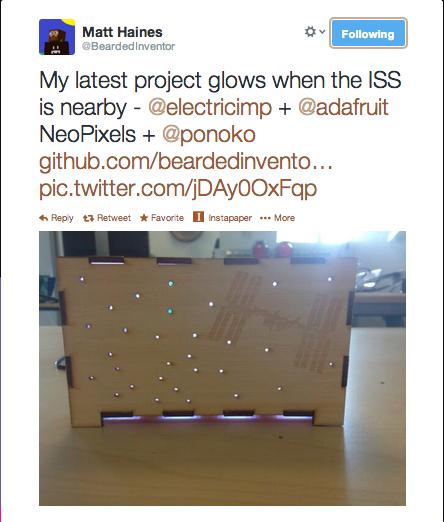 Twitter BeardedInventor My latest project glows when 2