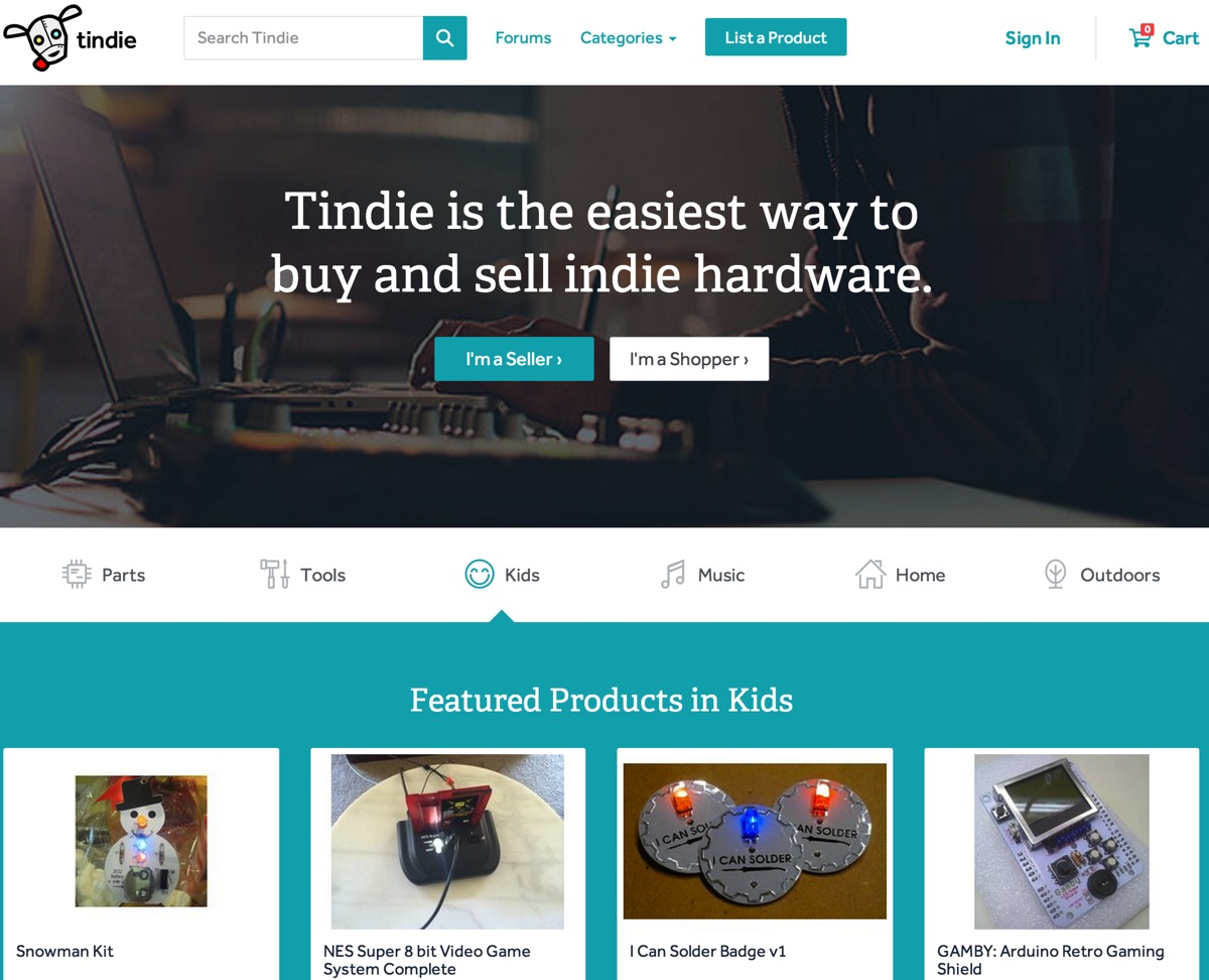 New tindie site the easiest way to buy and sell indie for Websites to sell artwork