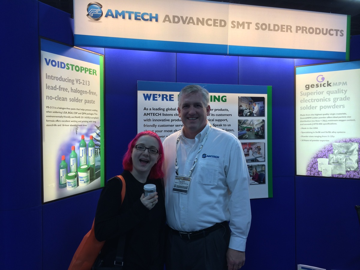 AMTECH LF-4300 Solder Paste – APEX EXPO #adafruitAPEX @IPCShow