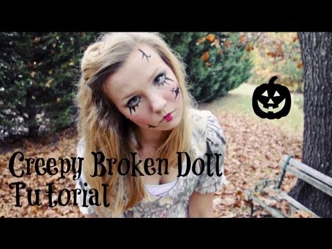 broken doll makeup and costume