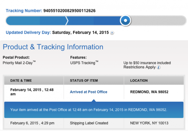 Package tracking not updating