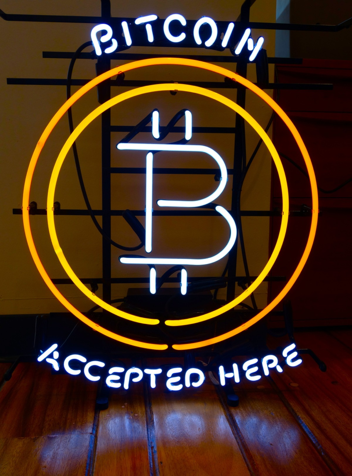 awesome neon sign bitcoin accepted here bitcoin adafruit