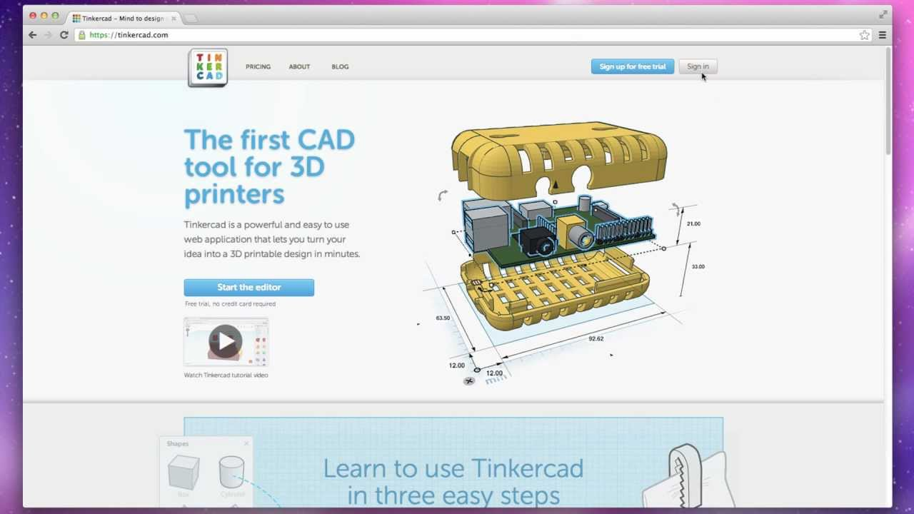 3d Design Software Tinkercad Browser Based 3d Design