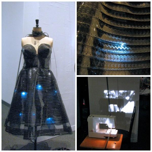 Film dress collage