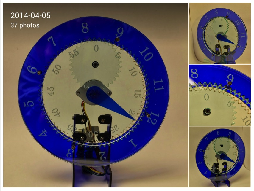 Justin Shaw Google Gear Clock
