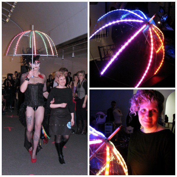 LED umbrella collage