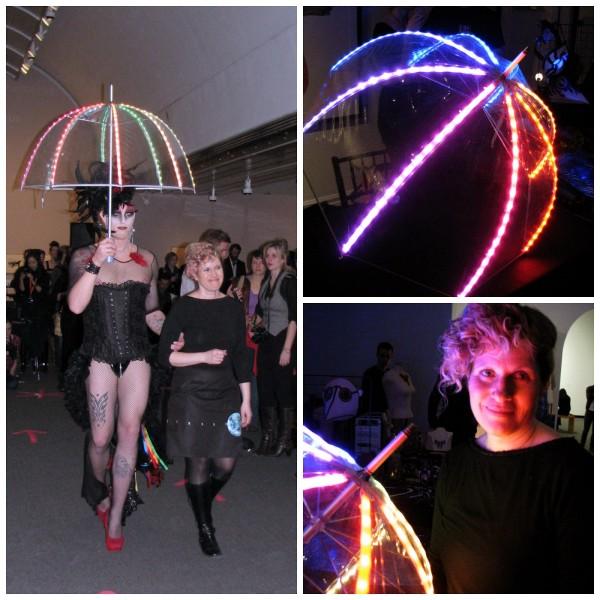 LED umbrella collage