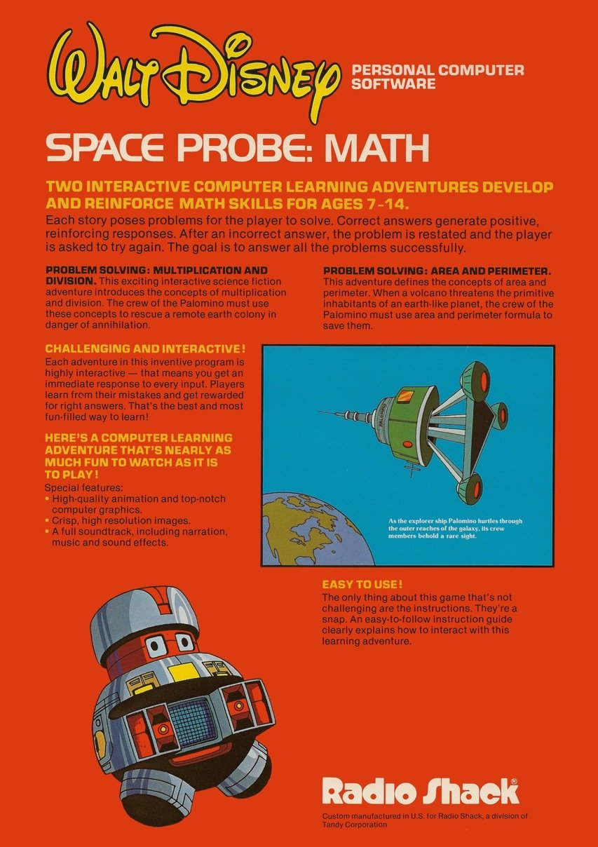 Space Probe Math - Back
