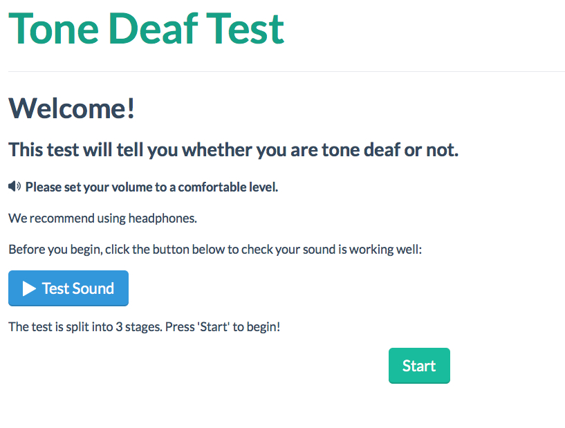 ToneDeafTest com Find out if you are tone deaf or not