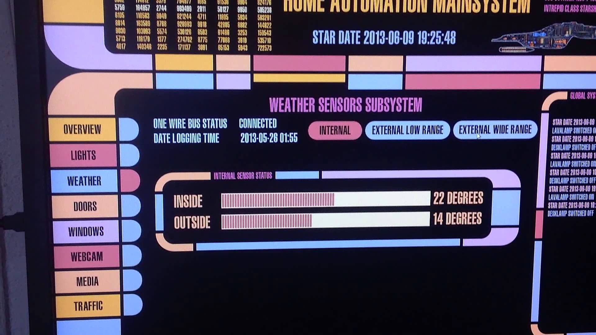 Bringing Star Trek to life: LCARS home automation with Arduino and