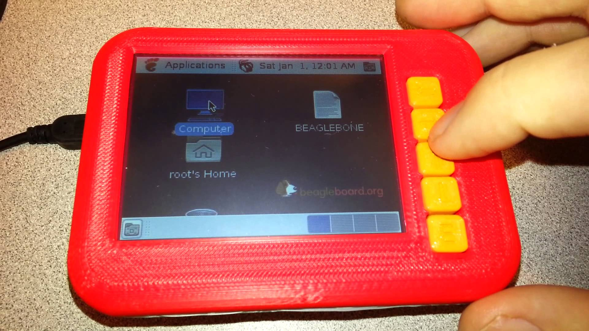 Case for Beaglebone and LCD panel by JamieLaing