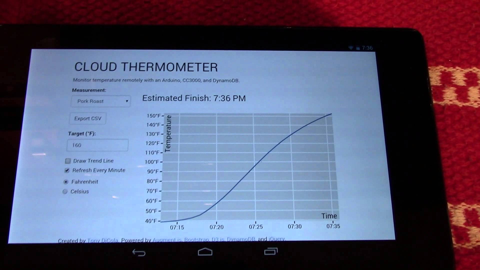 Cloud Thermometer – Kitchen thermometer that logs data to the cloud directly over a WiFi network! #IoT