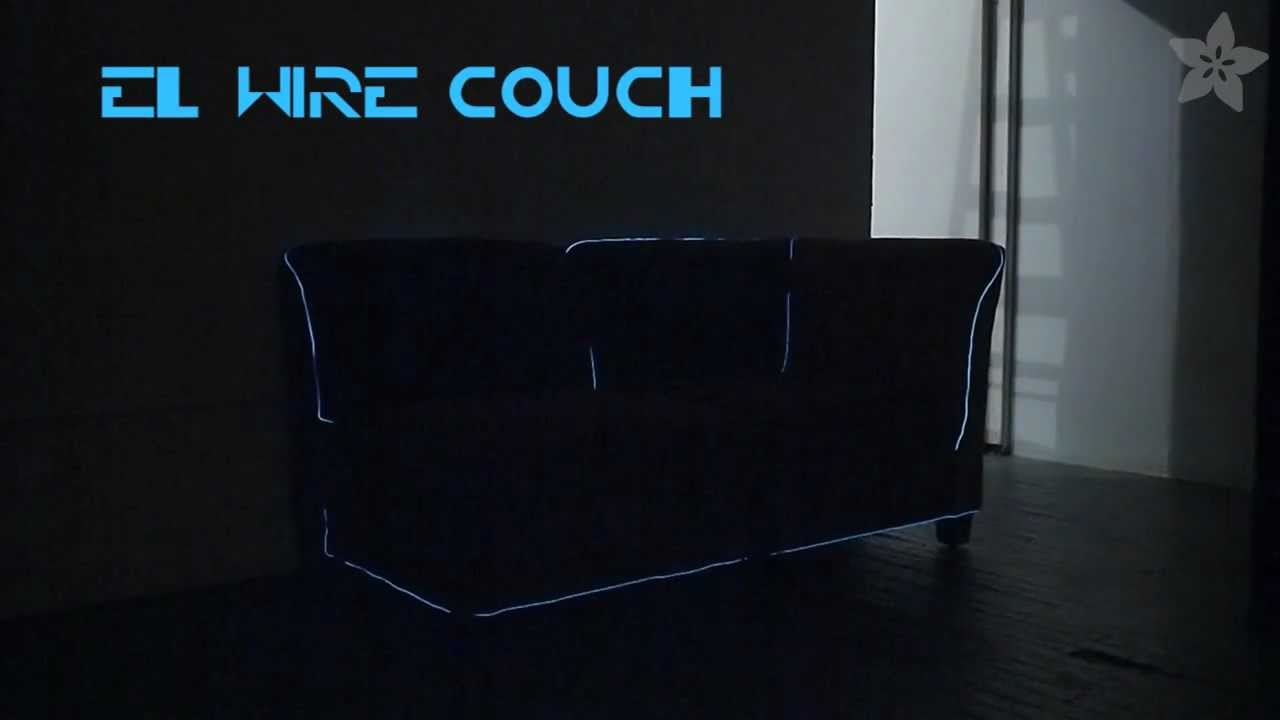 How To El Wire Couch Video 171 Adafruit Industries