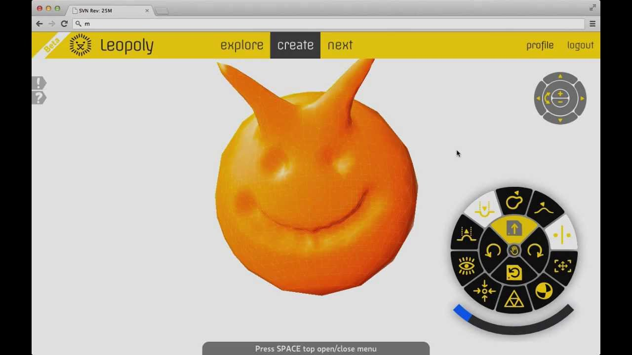 Leopoly Web-based 3D modelling tool for 3D printing #3DThursday #3DPrinting