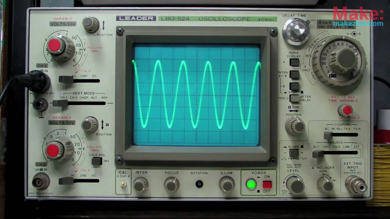 Cathode Ray Oscilloscope : Make presents the oscilloscope « adafruit industries