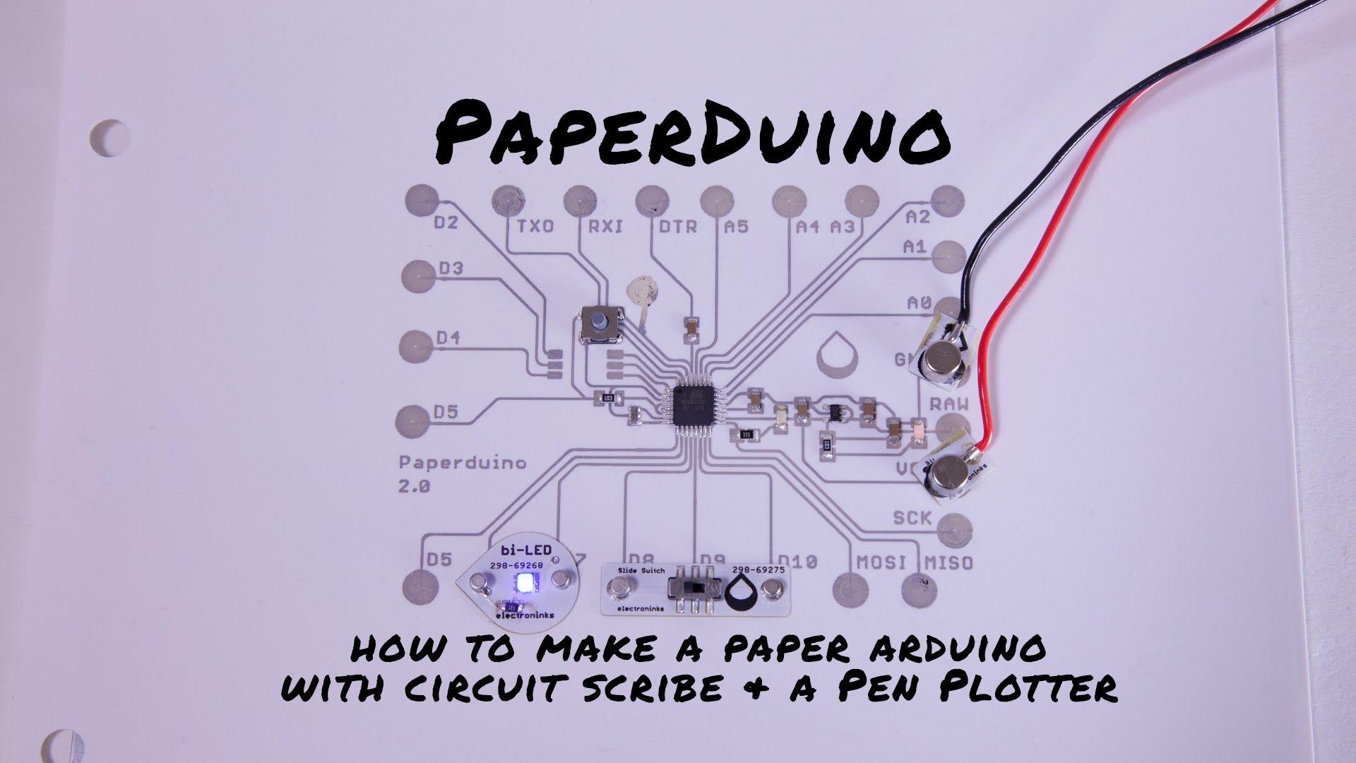 Paperduino 2.0 with Circuit Scribe – Paper Arduino! #arduino #conductiveink