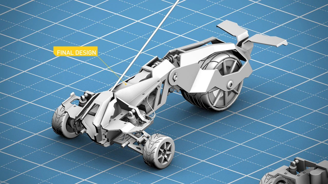 Prowler: 3D printed custom remote controlled car #3dthursday