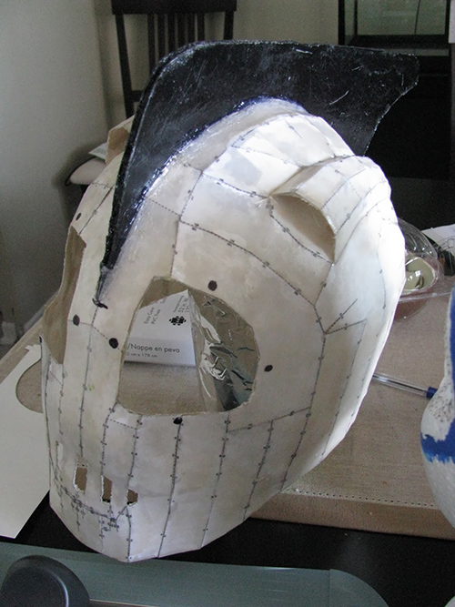 rocketeer helmet in progress