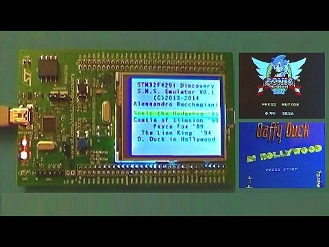 Stm32f429 Discovery Sega Master System Emulator 171 Adafruit