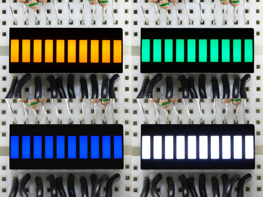 New Products 10 Segment Light Bar Led Displays In Amber