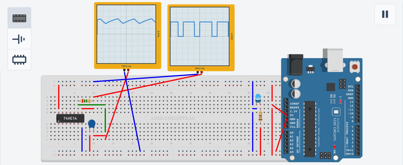 123D Circuits Oscillator Simulator