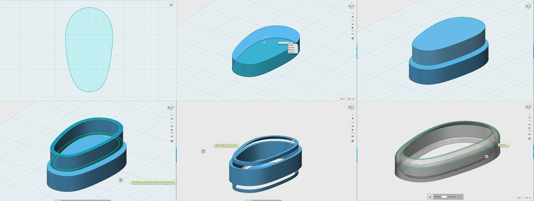 123D Design Steps to fix keychain hoop