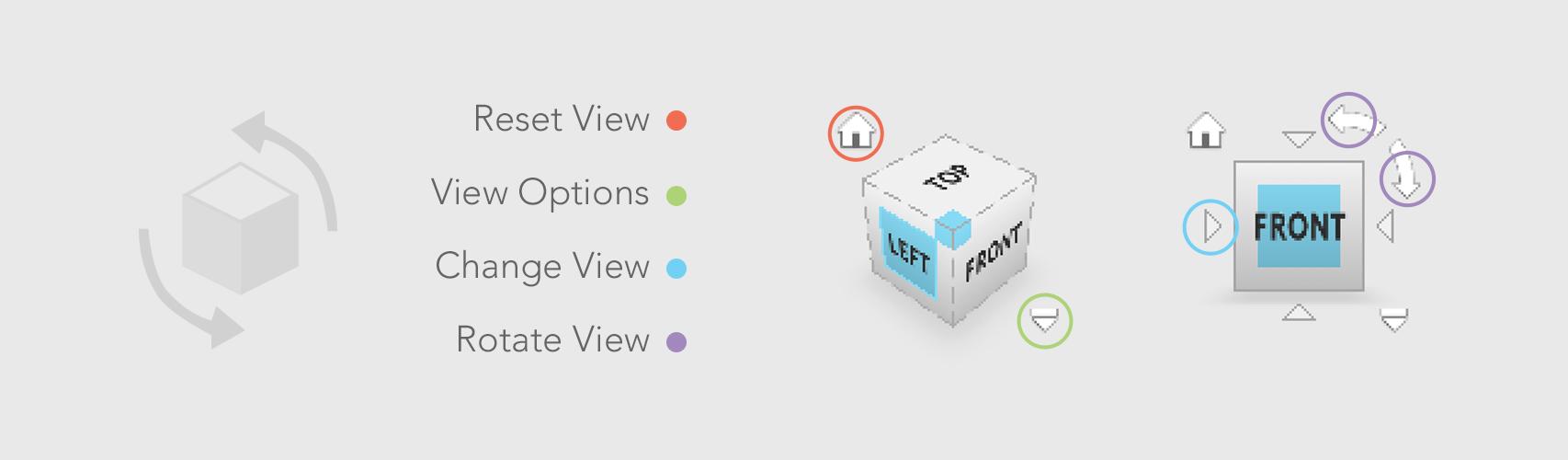 123D Design - Navigation Cube