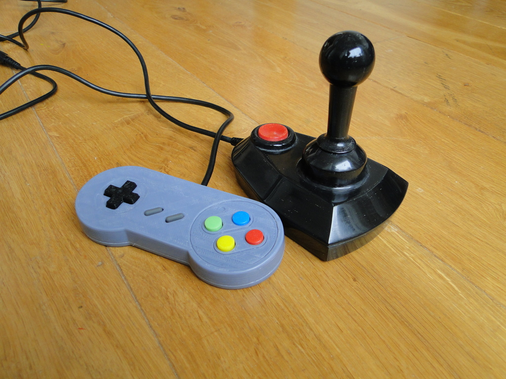 3D Printed SNES Controller on Thingiverse