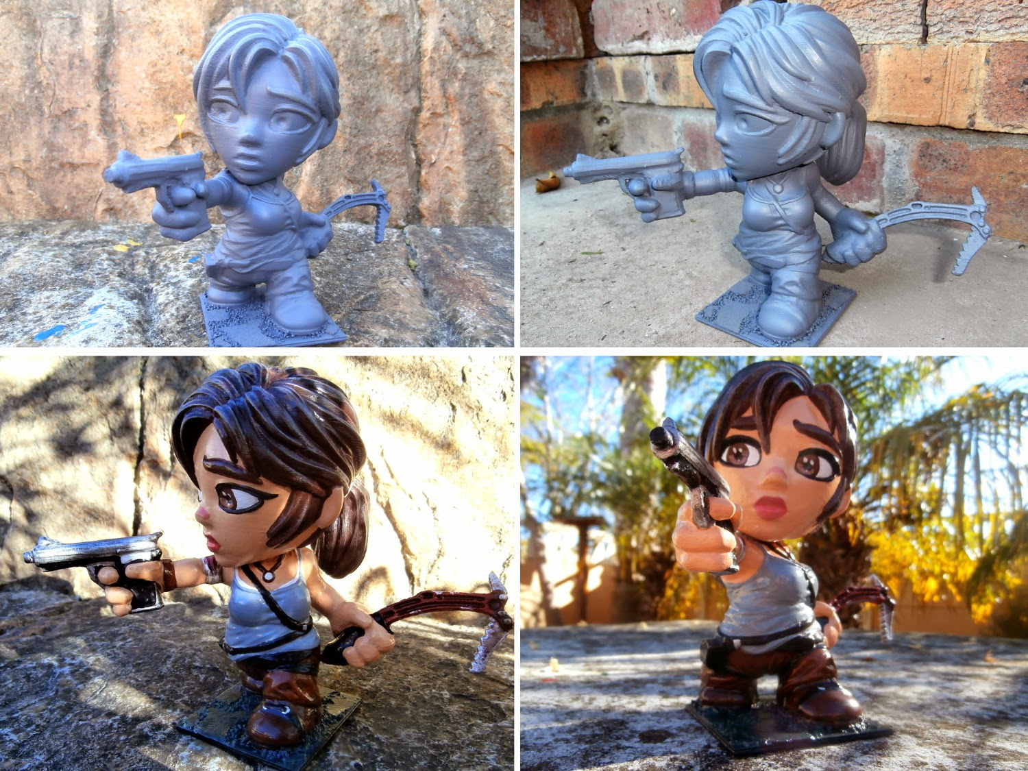 Lara Croft 3D Printed and Painted