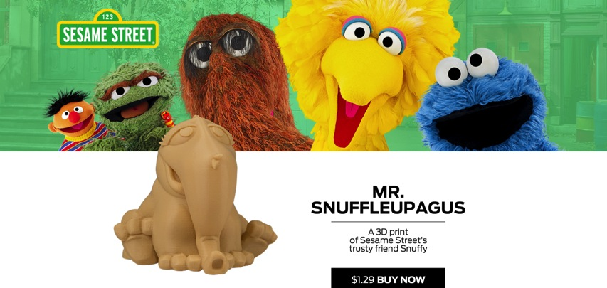 MakerBot Digital Store Mr Snuffleupagus