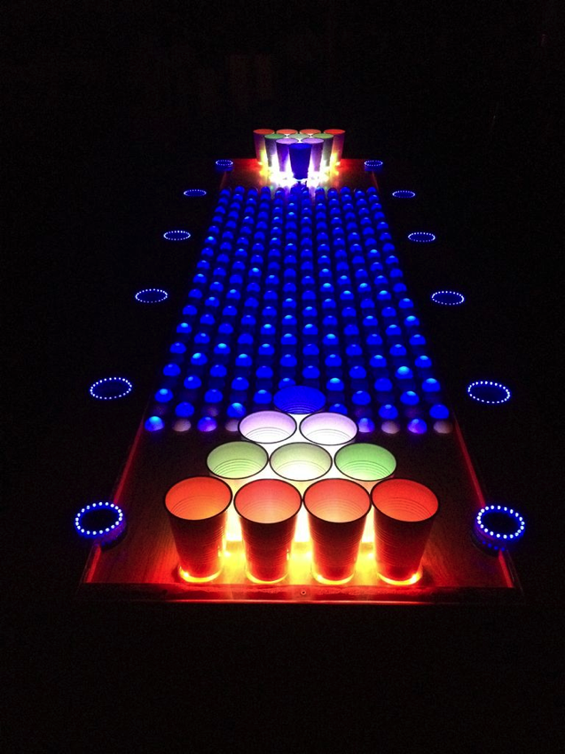 ... incredible looking LED beer pong table! Go here for the full tutorial