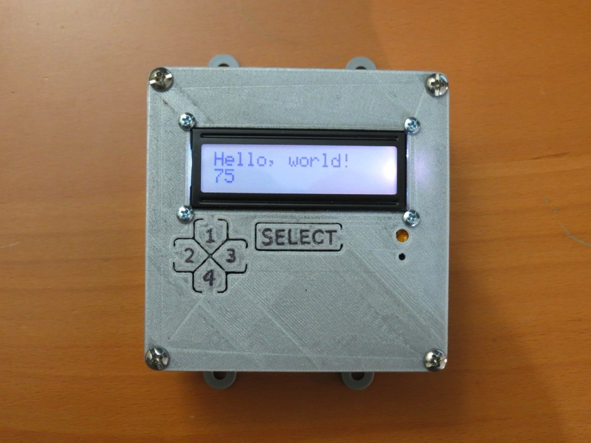 Arduino lcd button faceplate by jwags for adafruit