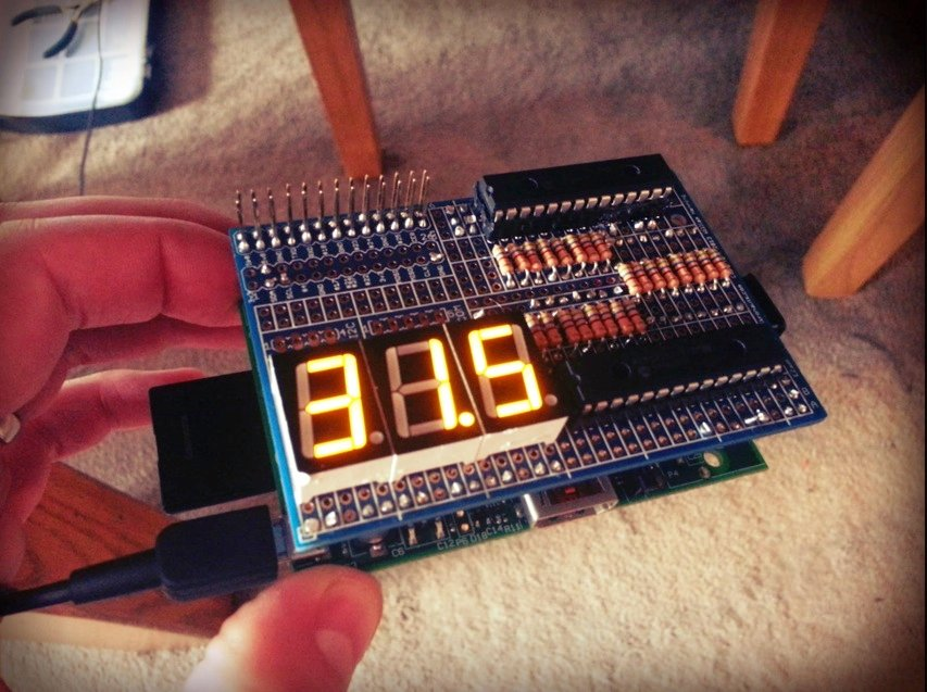 Raspberry Pi 7 Segment Display Temperature Monitor Part 2 Average Man vs Raspberry Pi RPi Projects Python and More
