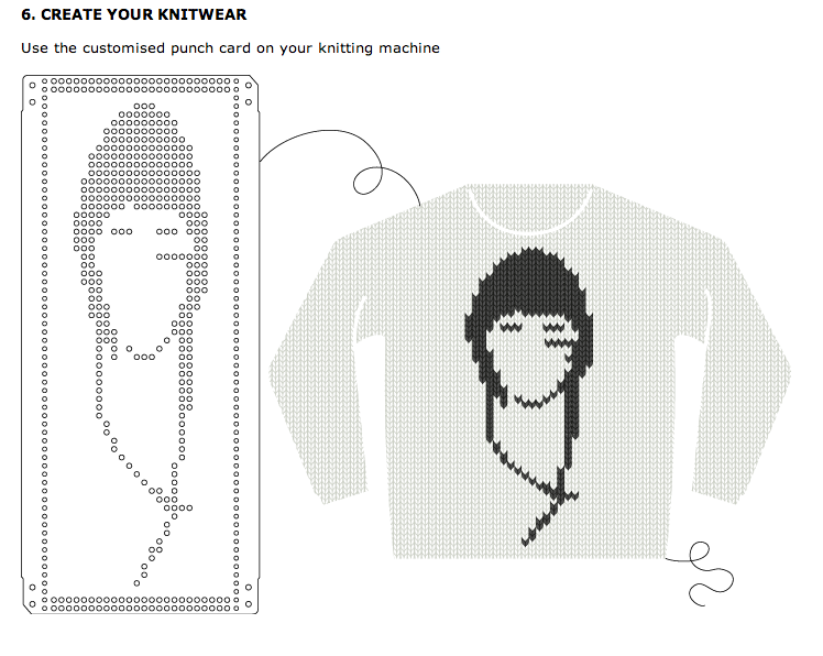 Website Creates Knitting Machine Punch Cards From Images