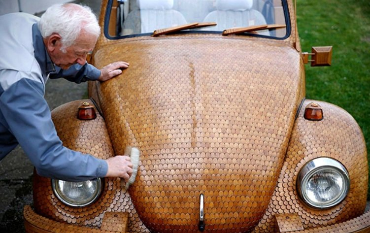 Wood Volkswagen Bug Beetle vs Termite