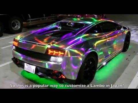 Custom Car Culture In Japan Lamborghini With Leds