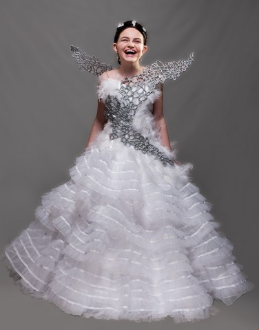 It Takes 250 Yards of Ribbon to Make Katniss' Wedding Gown ...Hunger Games Cosplay
