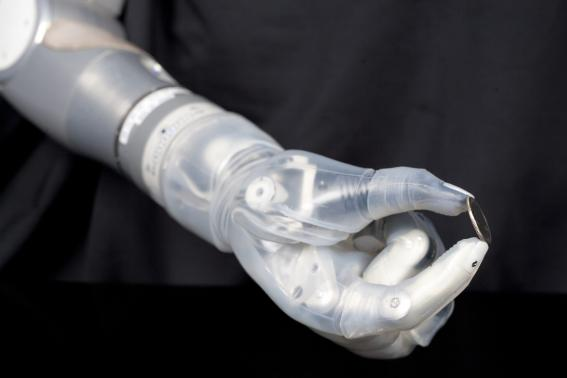 DARPA handout image shows the DEKA Arm System