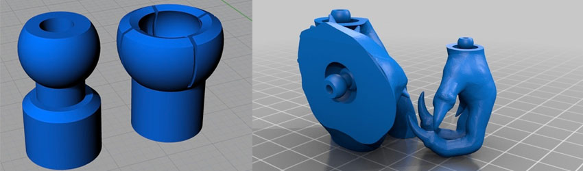 3D Printable Ball Joints from Thingiverse
