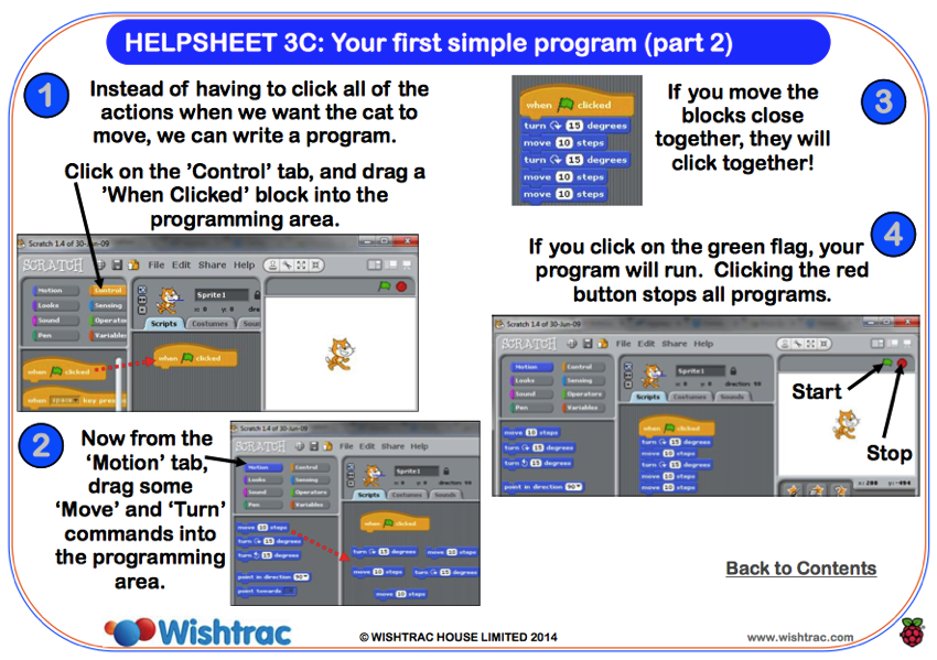 Www wishtrac com Pi 20Helpsheets HELPSHEET 203C 20Your 20first 20simple 20program pdf