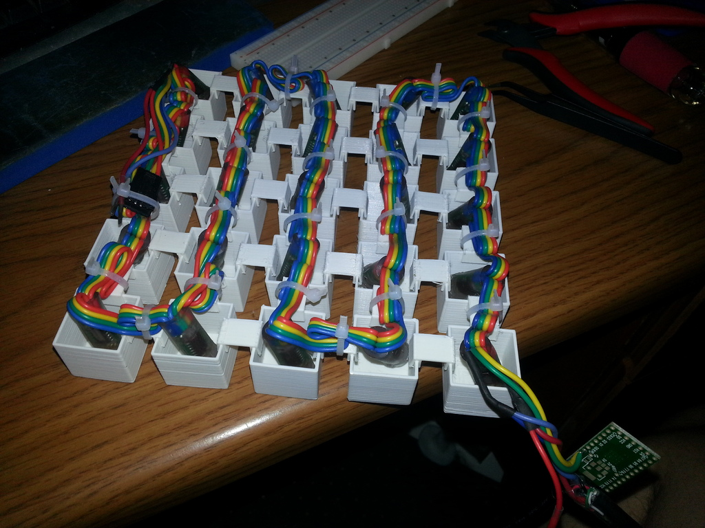 3D Printed 5x5 NeoPixel Art Assembly
