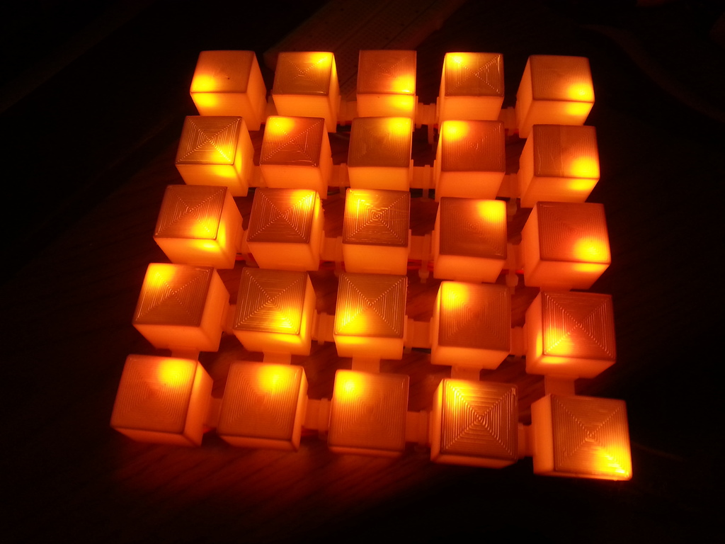 3D Printed 5x5 NeoPixel Art Display