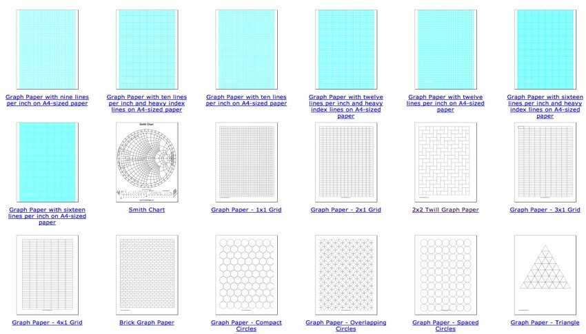 graph paper and other types of paper to print out adafruit