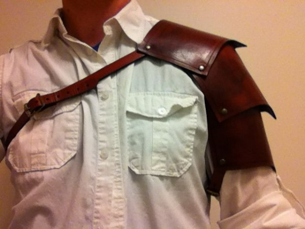 leather pauldron